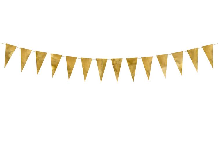 Flaggvimpel guldfärgad