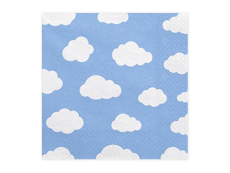 servett vita moln på ljusblå