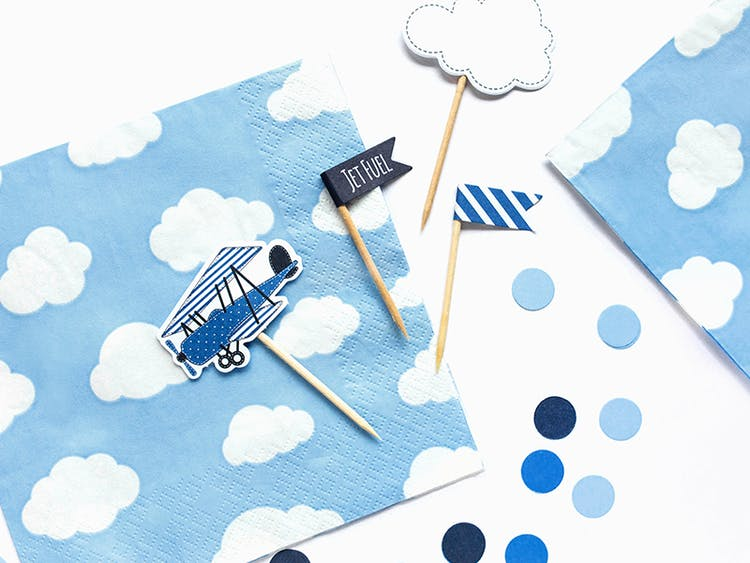 Servetter, moln/blå, 20-pack