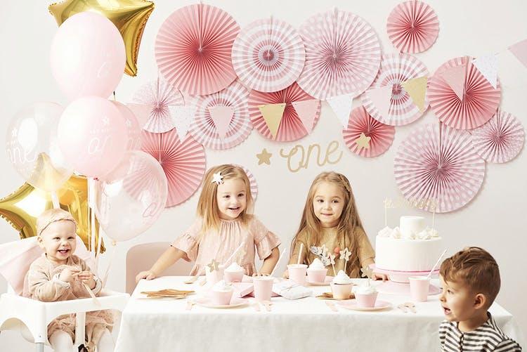 Cake topper 1st Birthday, guld