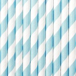 Pappsugrör, ljusblå, 10-pack