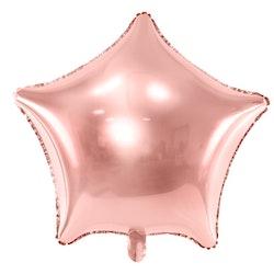 Folieballong, stjärna, roséguld
