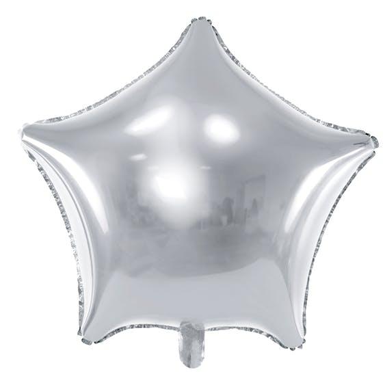 Ballong i form av en stjärna i silver