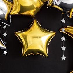 Folieballong, stjärna, guld