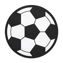 Servetter, fotboll, 20-pack