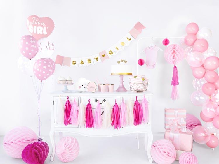 Folieballong, Its a girl, rosa