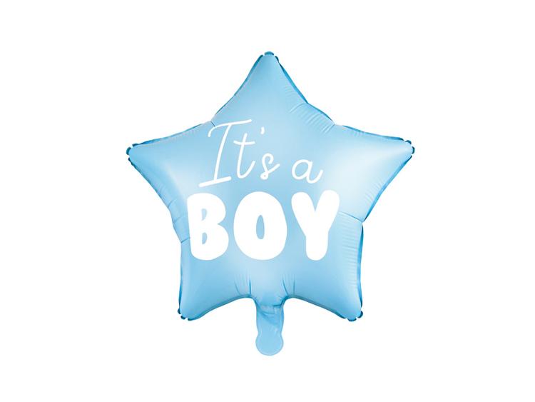 Babyshower pojke blå ballong som en stjärna