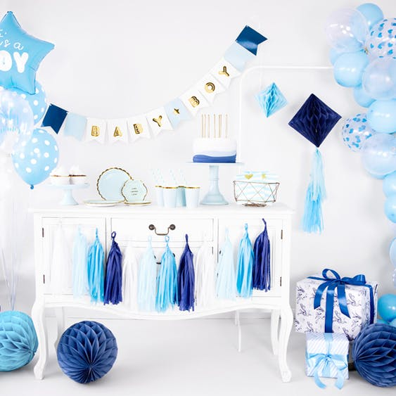 Folieballong, Its a boy, blå