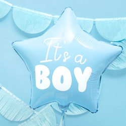 Folieballong, Its a boy, blå