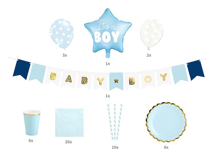 Baby Shower kille blått