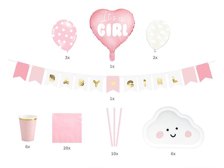 Baby Shower för tjej, rosa färger