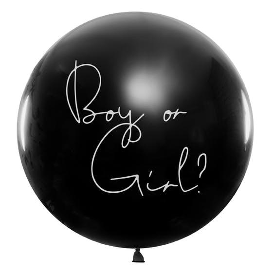 Gender reveal ballong flicka