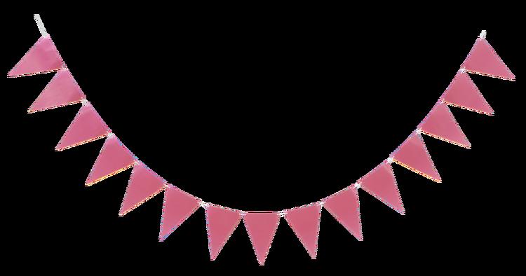 rosa flaggvimpel
