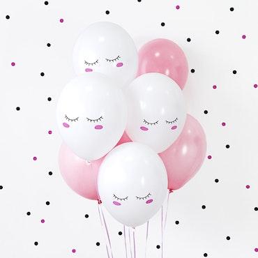 Ballong, rosa mix, 10-pack