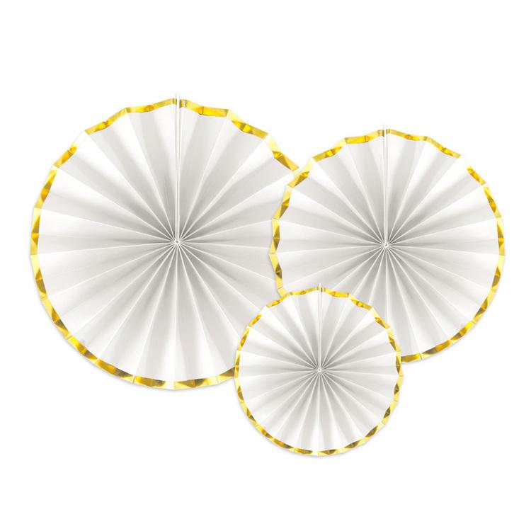 Vita Pin wheels med guldkant