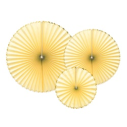 Pin Wheels ljusgul och guld, 3-pack
