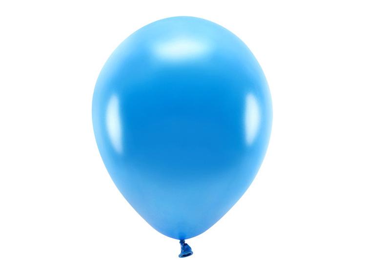 Ballong EKO, metallic blå, 10-pack
