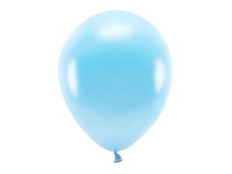 Ballong EKO, metallic ljusblå, 10-pack