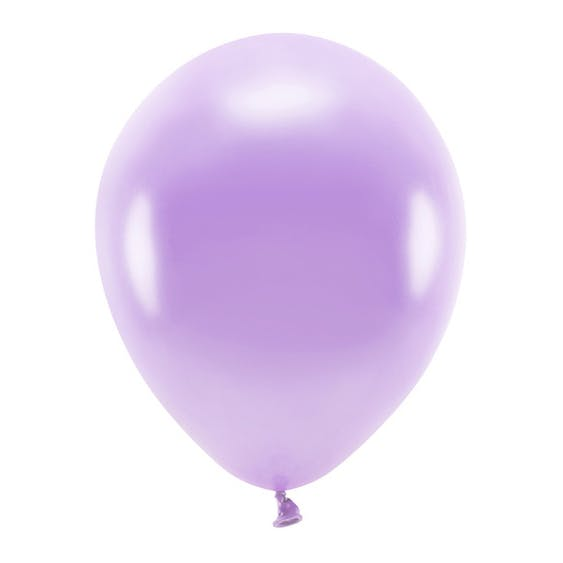 Ballong EKO, metallic lavendel, 10-pack
