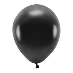 Ballong EKO, metallic svart, 10-pack