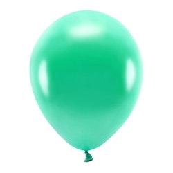 Ballong EKO, metallic blågrön, 10-pack