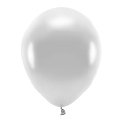 Ballong EKO, metallic silver, 10-pack