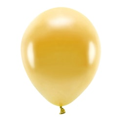 Ballong EKO, metallic guld, 10-pack