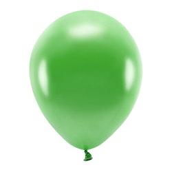 Ballong EKO, metallic grön, 10-pack