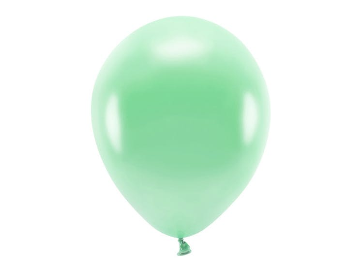 Ballong EKO, metallic mintgrön, 10-pack