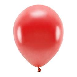 Ballong EKO, metallic röd, 10-pack