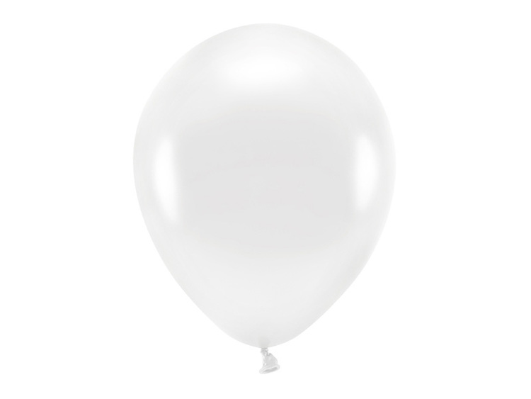 Vita ballonger i ekogummi