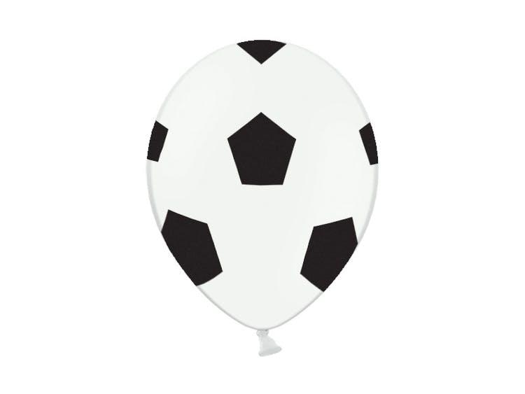 Ballong med motiv av en fotboll