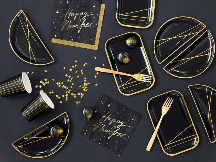 Konfetti, guld metallic, stjärnor