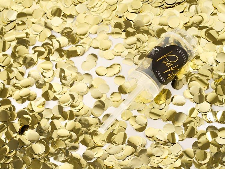 konfettibomb guld