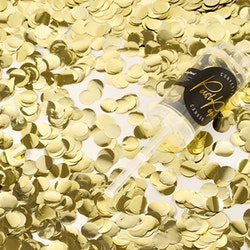 Konfetti Push Pop kanon, guld