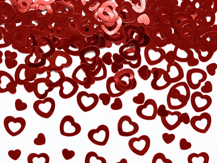 konfetti hjärtan