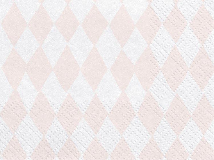 Servetter, rutmönster rosa, 20-pack