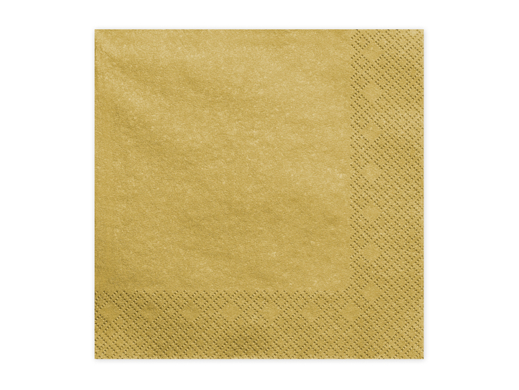 guldfärgade servetter
