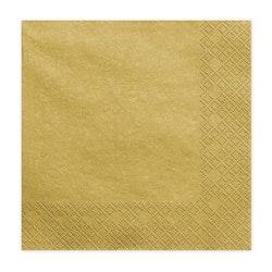 Servetter, guld, 20-pack