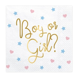 Servetter, Boy or Girl, 20-pack