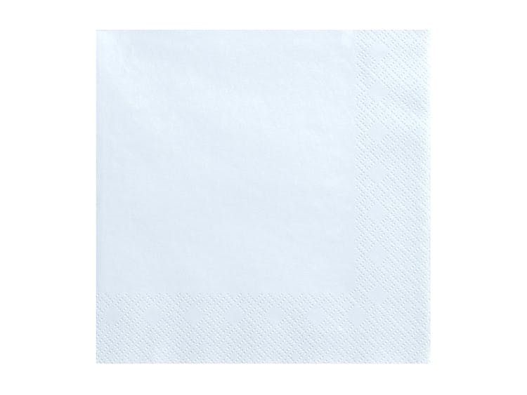 ljusblåa servetter