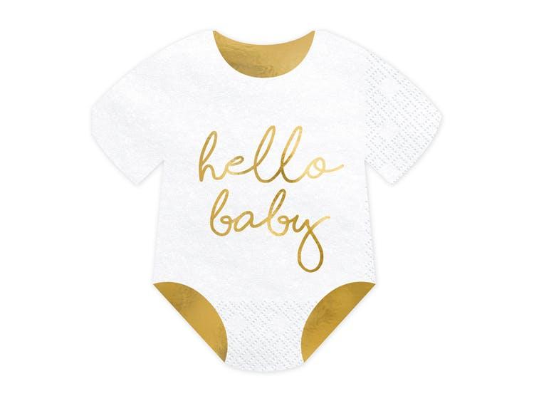 Servetter för baby shower