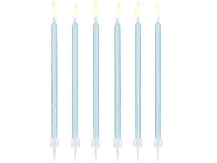 Blåa tårtljus