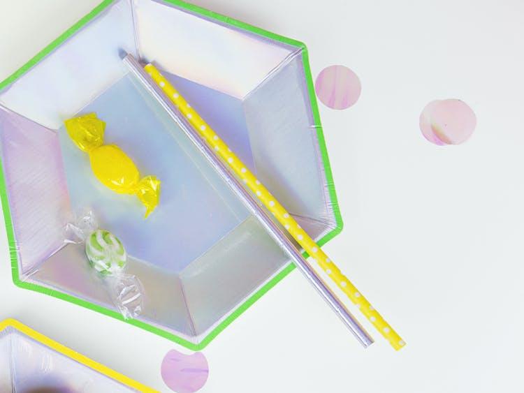 Pappsugrör, iridescent, 10-pack
