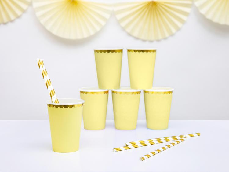 Pappmugg, gul, 6-pack