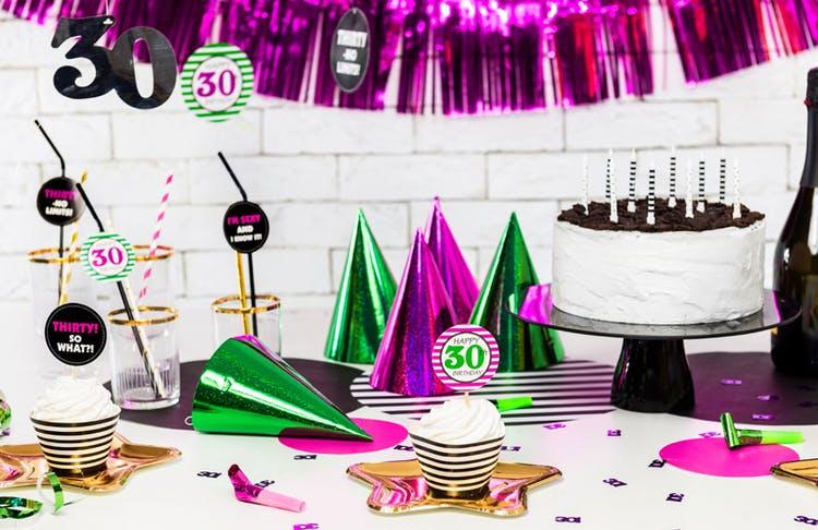 Partyhatt, holografisk färgmix, 20-pack