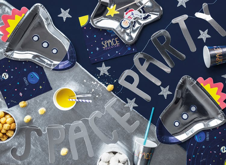 Papptallrik, rymdraket, 6-pack