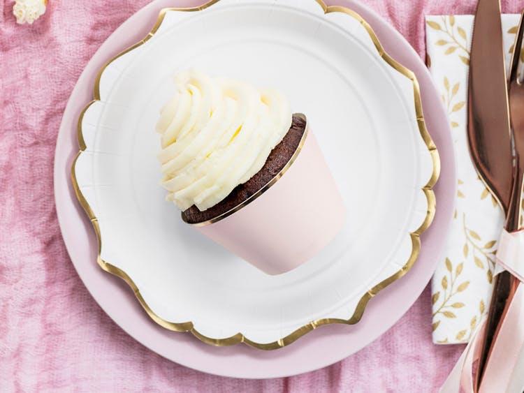 Cupcake wrappers, ljusrosa, 6-pack