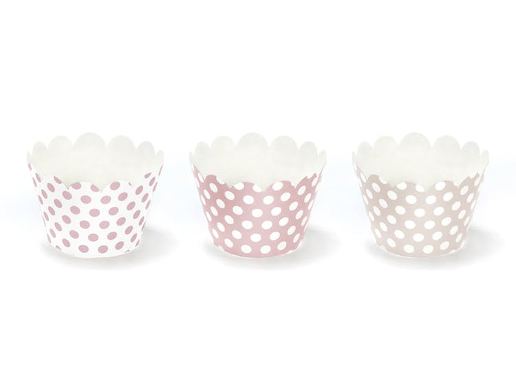 Cupcake wrappers, prickig mix, 6-pack