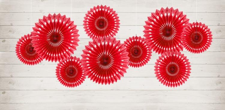 Pin Wheels, röd, 3-pack